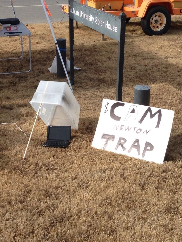 auburn cam newton trap Best SNARKY Signs from the College Football Weekend