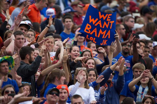 gators alabama Best SNARKY Signs from the College Football Weekend
